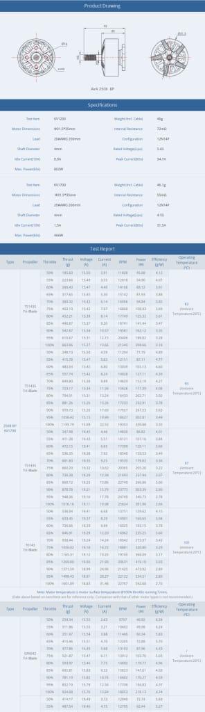 Racerstar Aira 2508 Bp Edition 4~6s 1200kv 1700kv Motor for