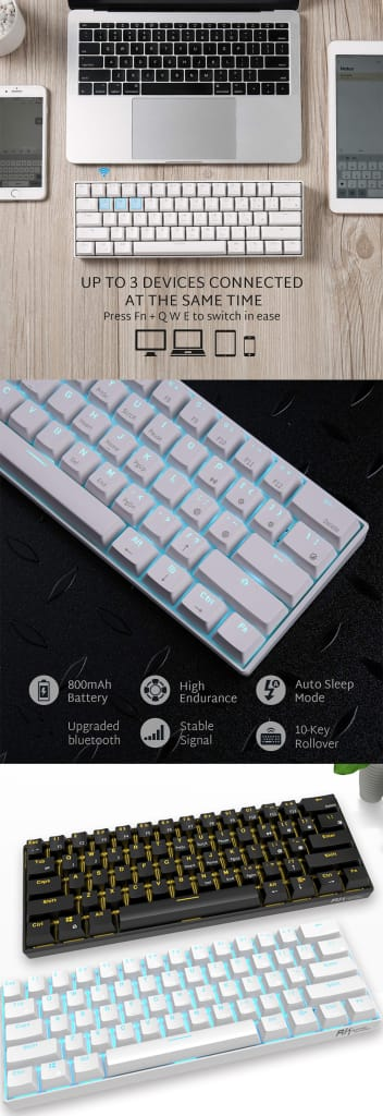 Bluetooth Wired Dual Mode Mechanical Gaming Keyboard - 6
