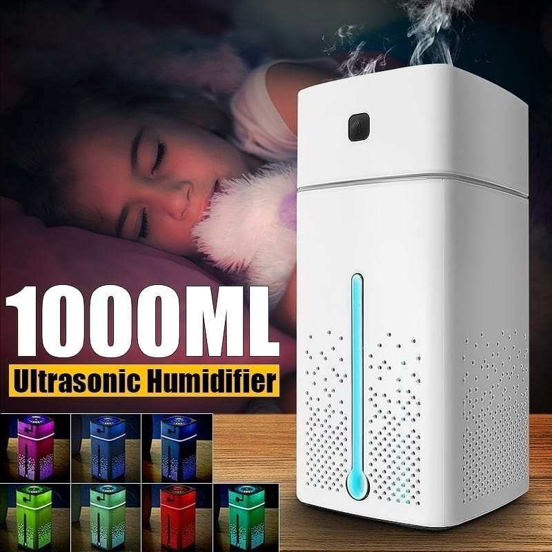Ultrasonic Air Humidifier Purifier Usb 7 Color Led Lights -