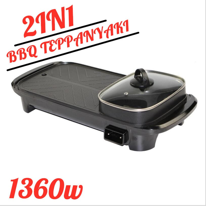 Electric Barbecue Pan Grill Teppanyaki Cook Fry Bbq Oven Hot