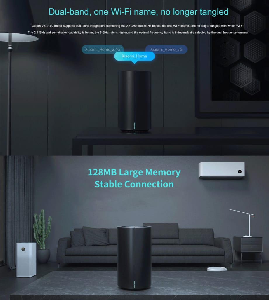 Wireless Wifi Router 1733mbps Gigabit Network Port 128mb