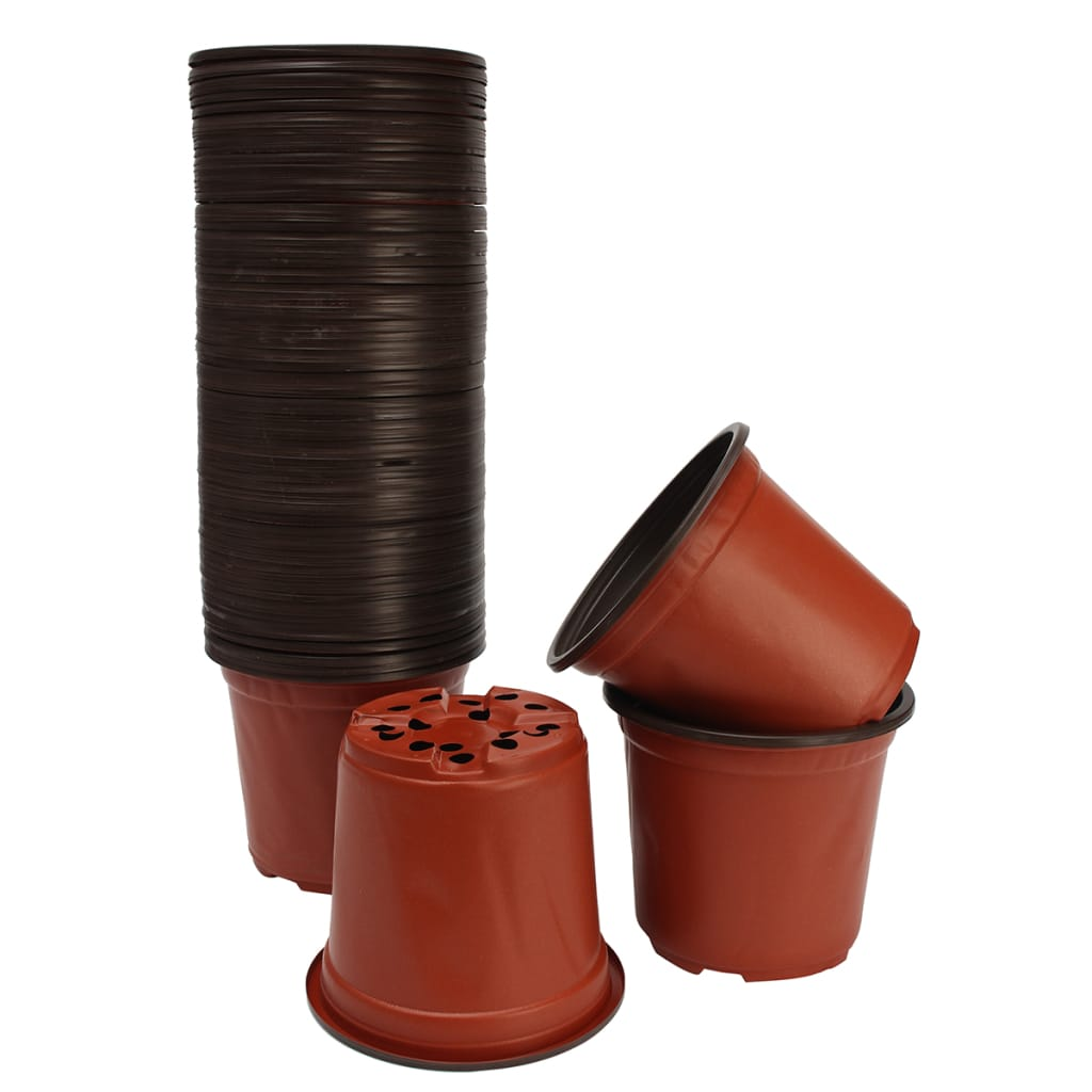Plastic Garden Nursery Pot 100pcs - 12 Sizes