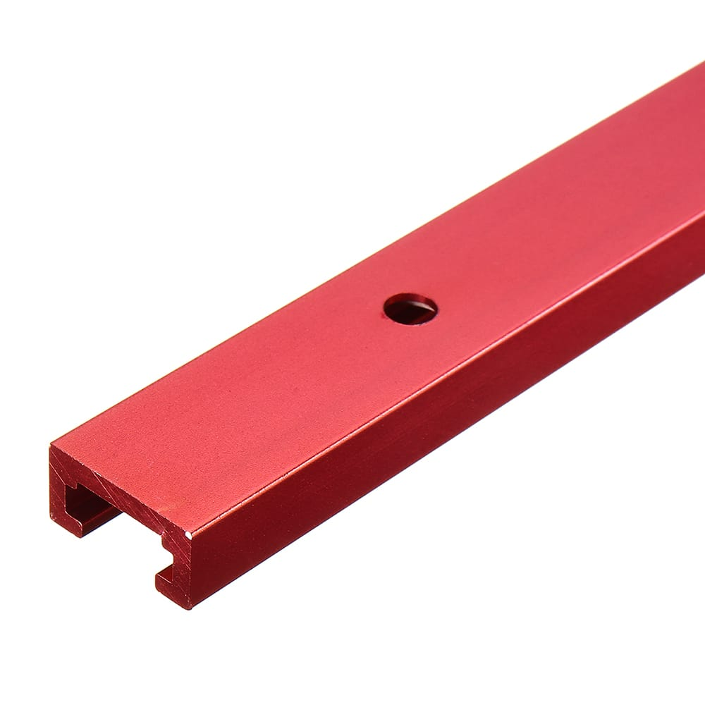 Red Aluminum Alloy 300-1220mm T-track T-slot Miter Track Jig