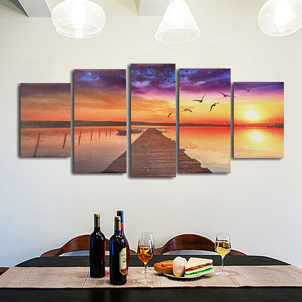 Modern Canvas Picture Wood Path Oil Unframed Paintings