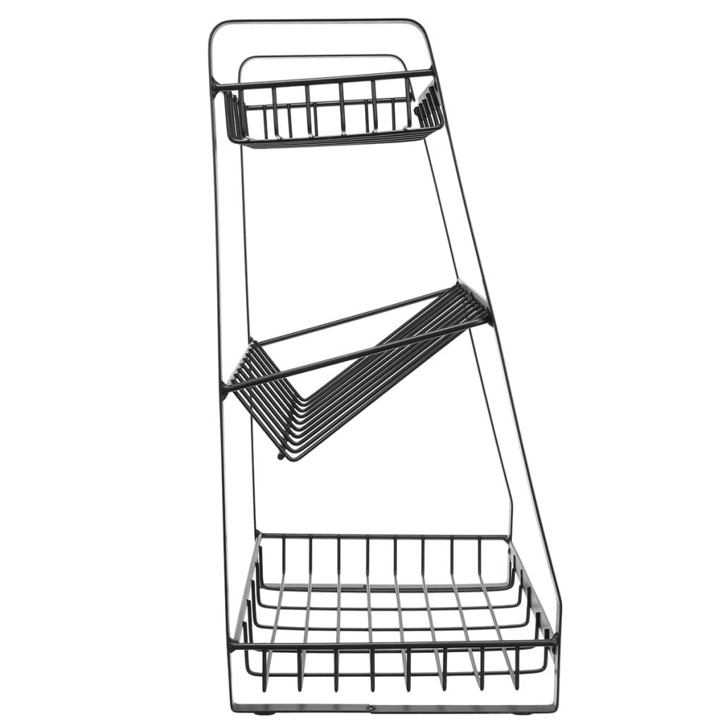 Kitchen Stainless Spice Jars Rack Seasoning Shelf Holder