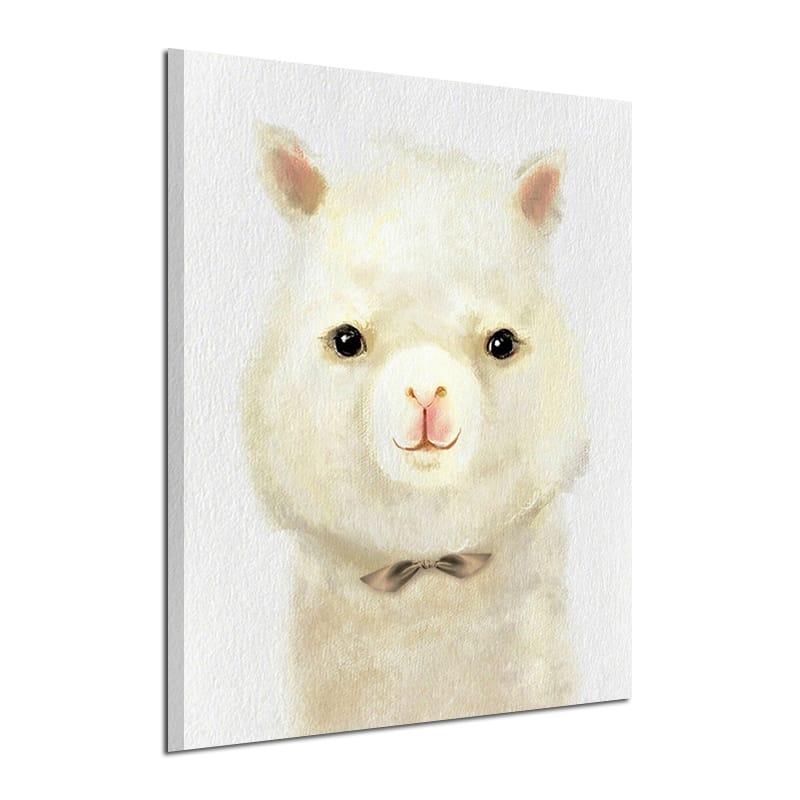 Miico Hand Painted Cartoon Alpaca Oil Paintings