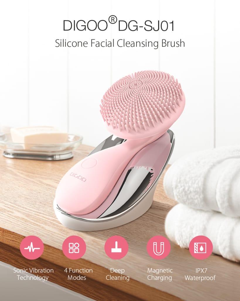 Silicone Ultrasonic Facial Brush Cleansing Brush 4 Function