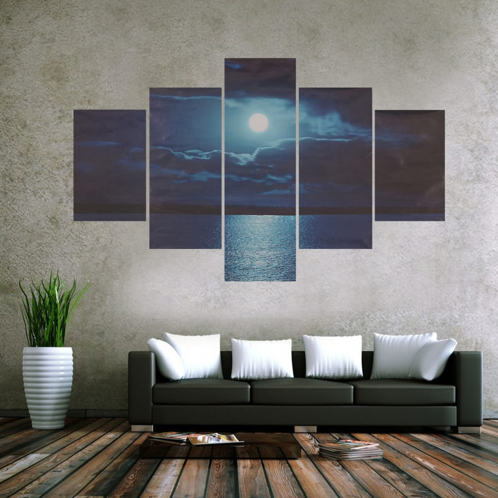 Modern Abstract Moon Sea Oil Paintings Unframed
