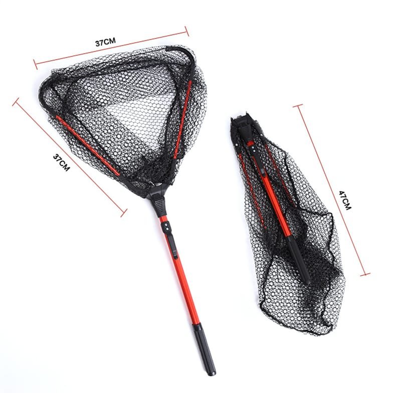 Retractable Folding Fishing Net Freshwater Fishing Scoop Net