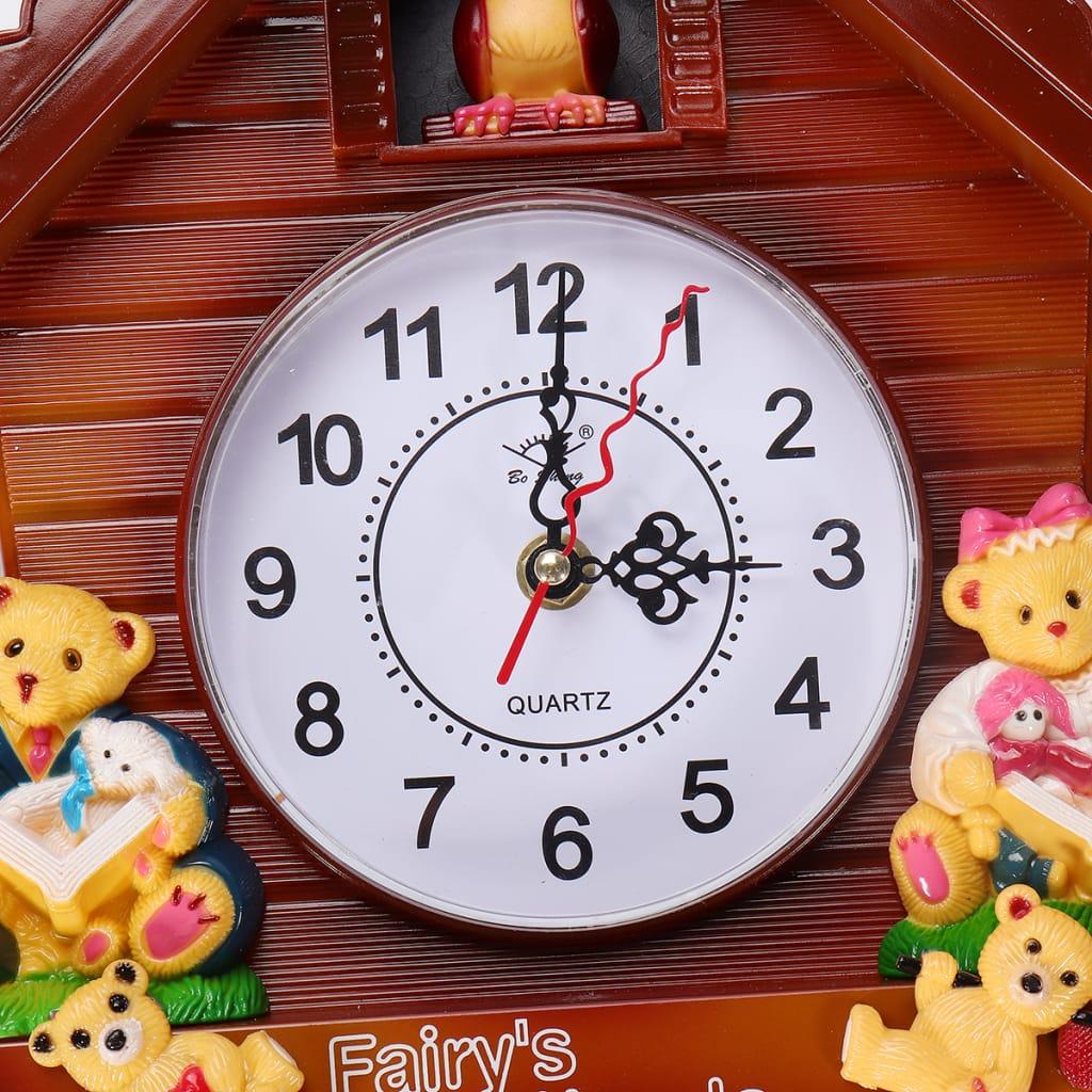 Antique Wooden Cuckoo Wall Clock Bird Time Bell Swing Alarm