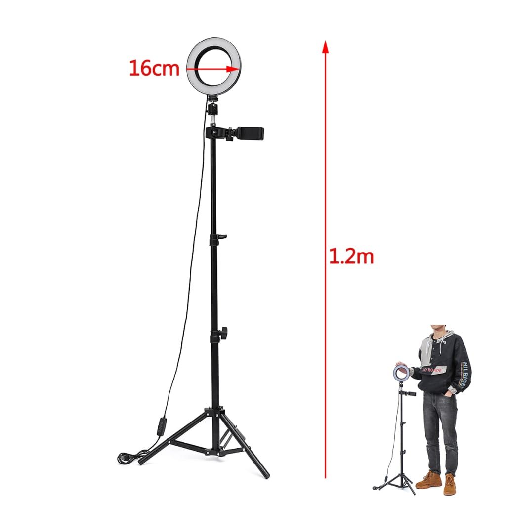 Dimmable Led Studio Camera Ring Light Makeup Photo Lamp