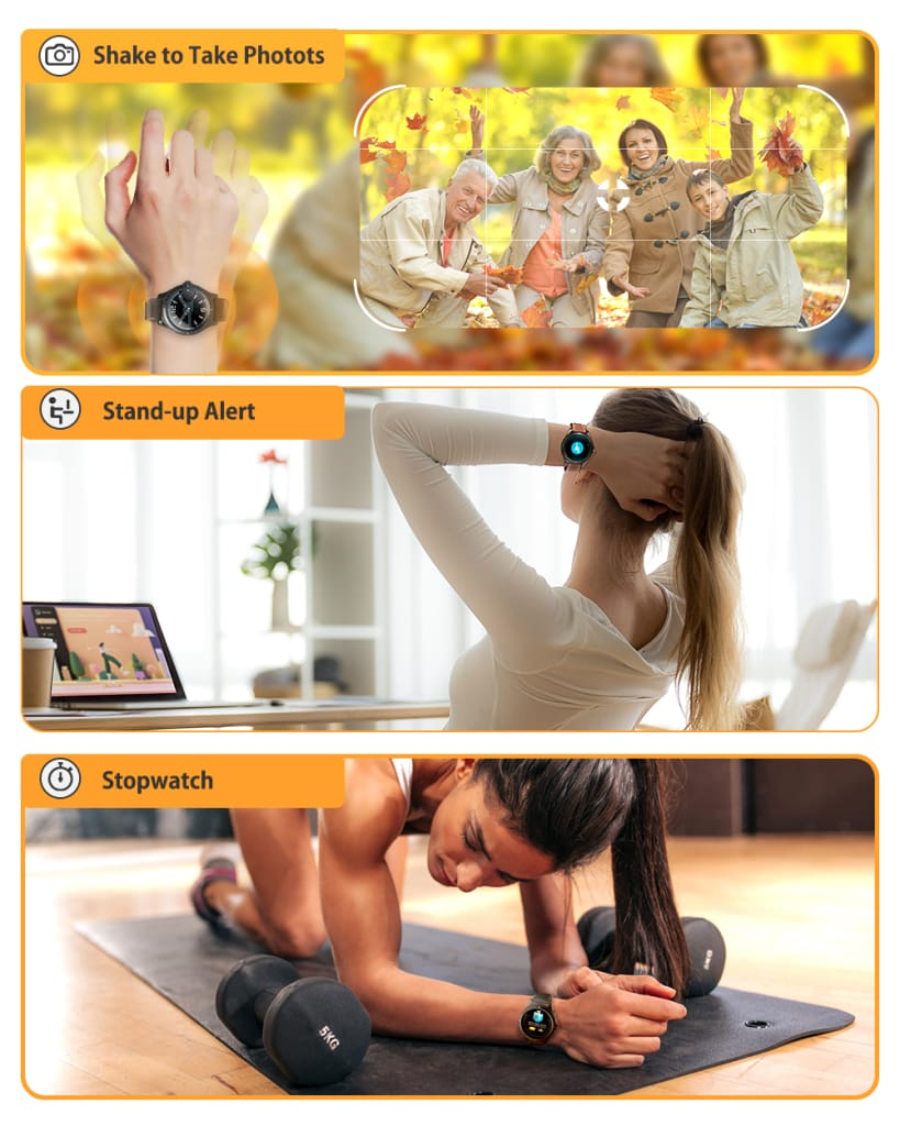 Full-round Touch Screen Heart Rate Blood Pressure Monitor -