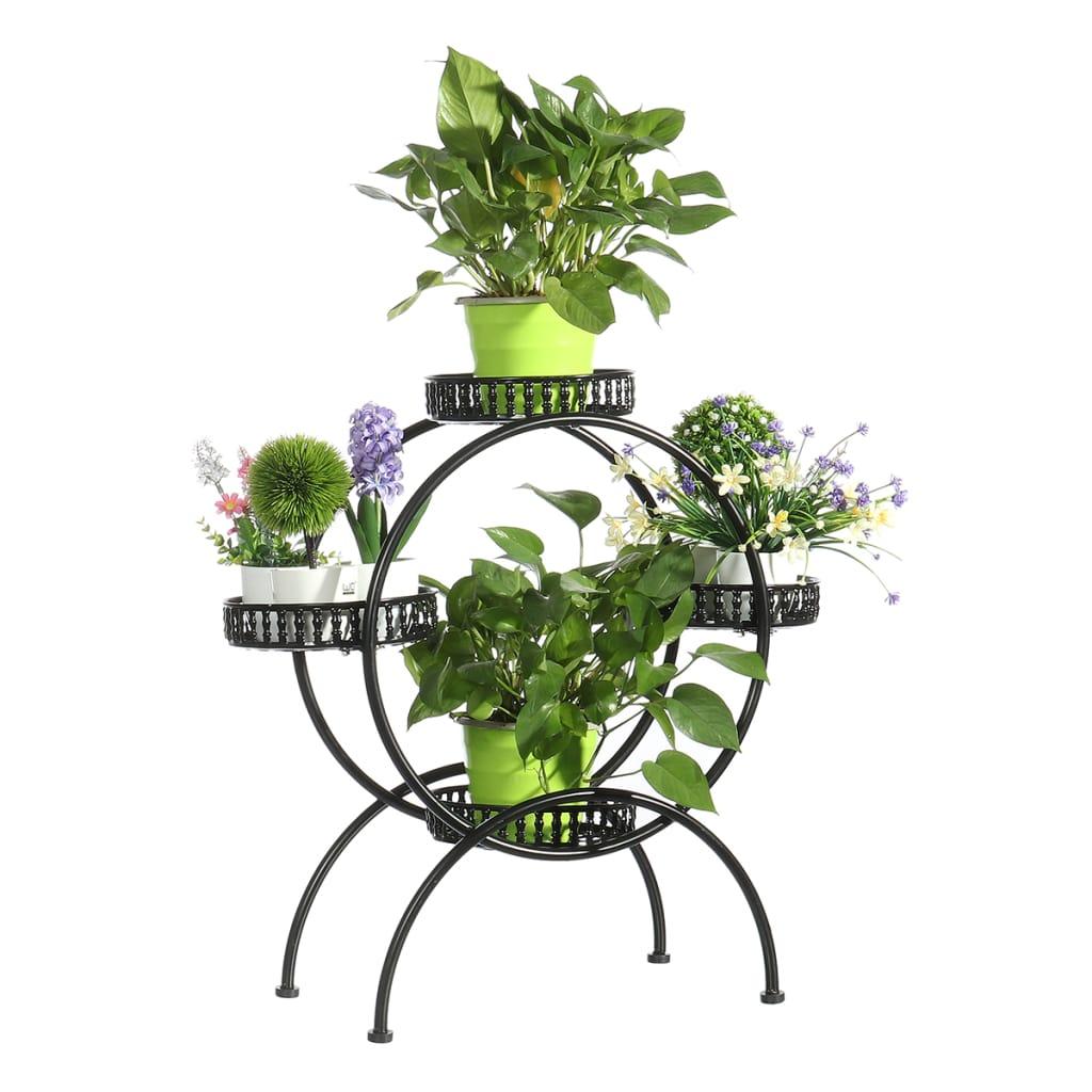 Multi Storey Flower Shelf Rack Flower Stand Green Balcony
