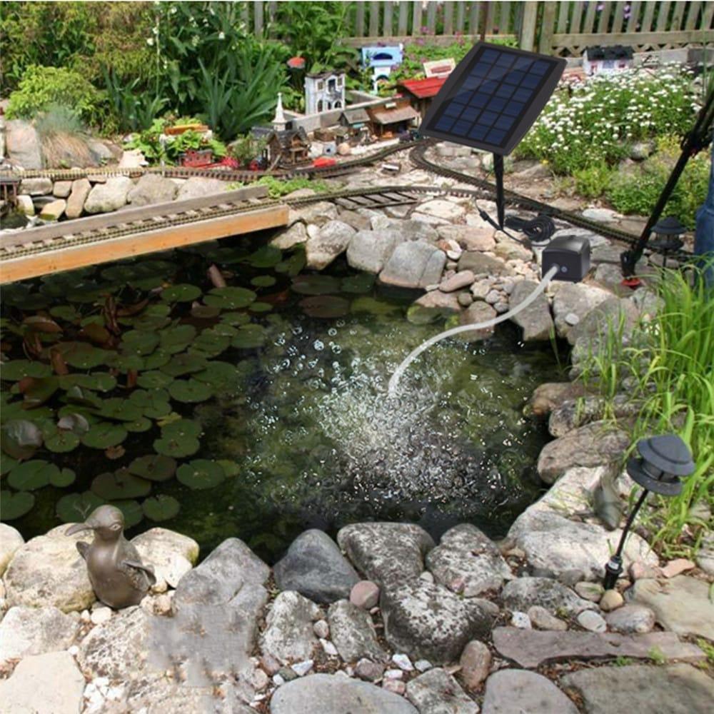 Air Stone Aerator Pond Water Oxygenator Solar Powered Oxygen
