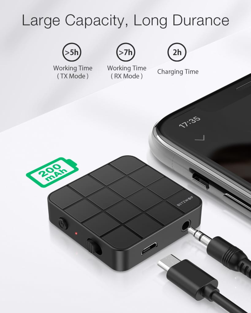 2 in 1 Bluetooth 5.0 Audio Transmitter Receiver Adapter