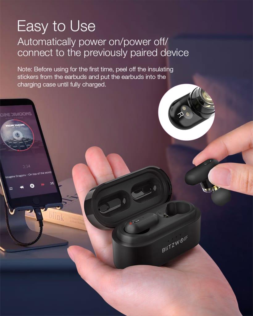 Bluetooth 5.0 Earphone Heavy Bass Stereo Bilateral