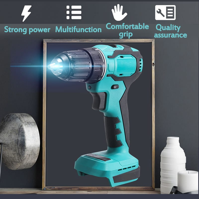 Rechargeable Brushless Cordless Drill High Power Led