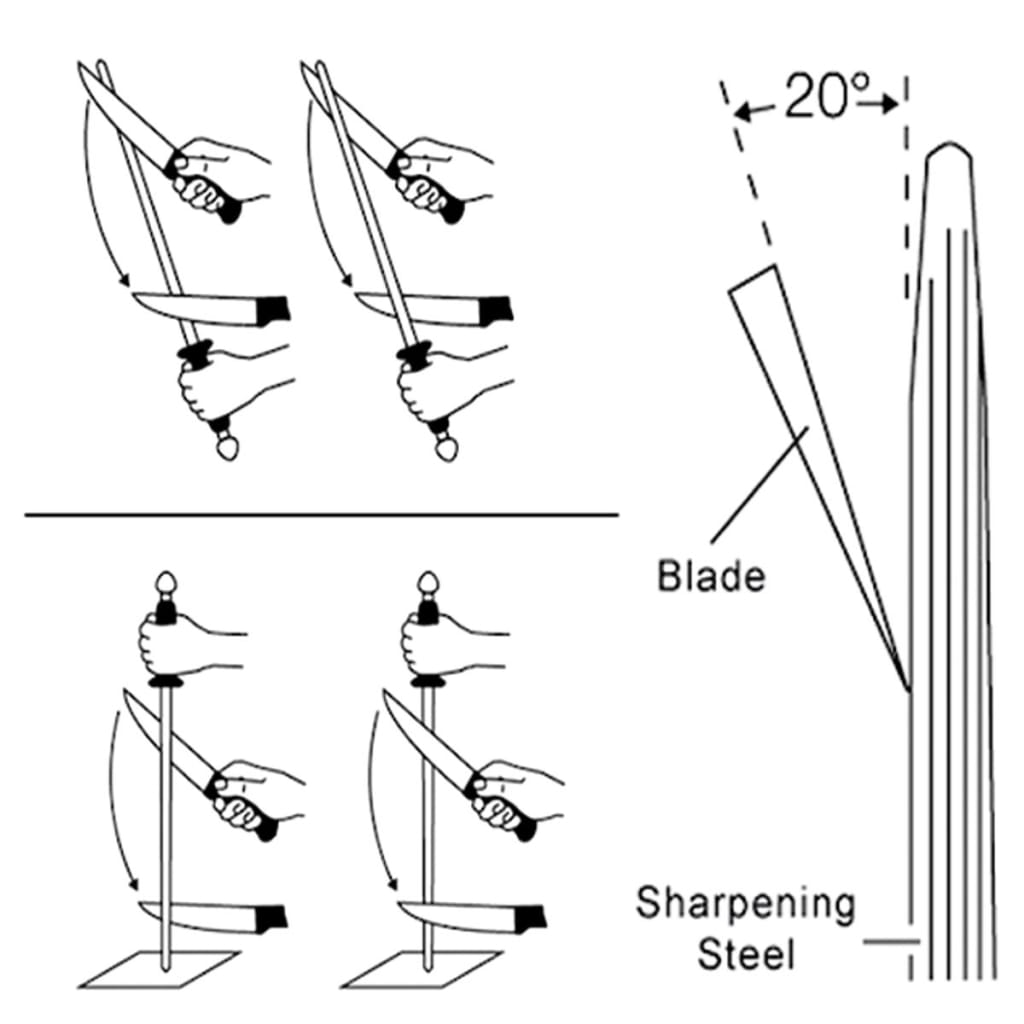 Diamond Sharpener Rod Sharpen Stone Tool - 12inch 600-grit