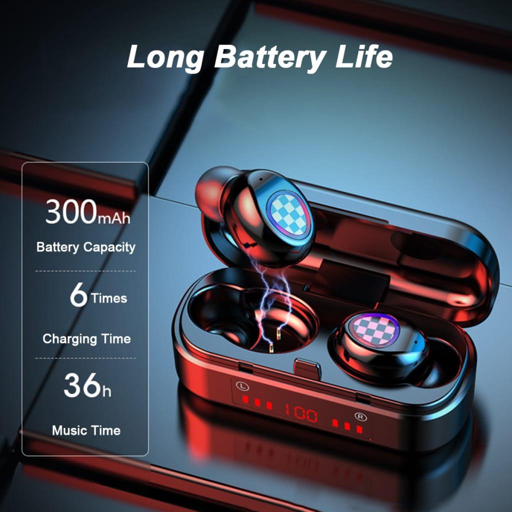 Tws Wireless Bluetooth 5.0 Dual Digital Display Charging