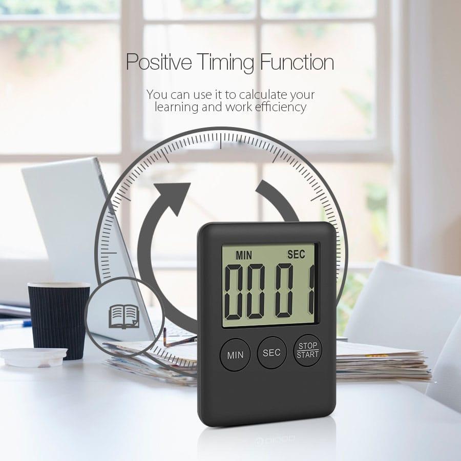 Mini Lcd Display Electric Digital Kitchen Timer Loud Alarm