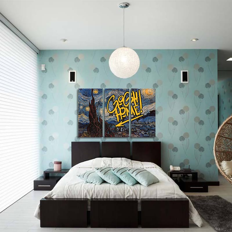 Miico Hand Painted Three Combination Decorative Starry Sky