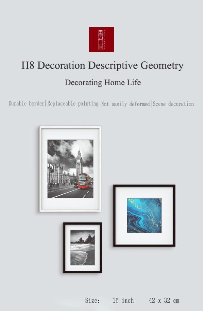Geometry Descriptive Geometry Decorative Photo Frame - 2
