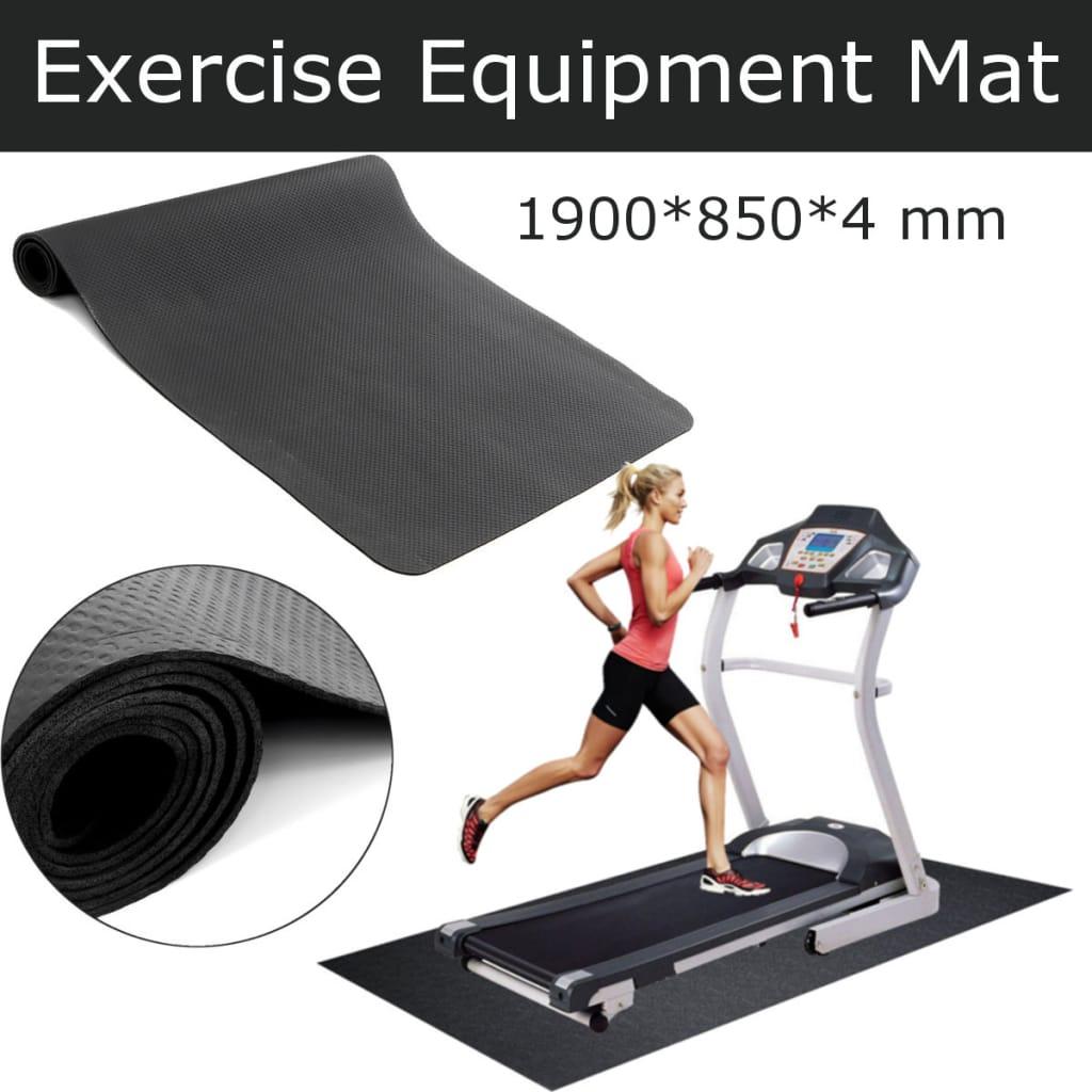Exercise Mat Non-slip Pilates Gym Yoga - Black