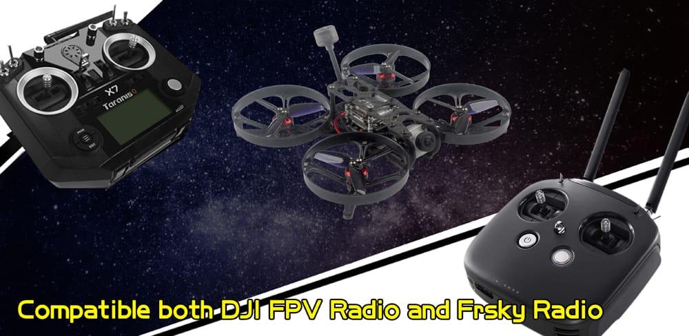 Fpv Racing Drone Bnf Frsky D8/d16 Dji Fpv Camera Caddx Vista