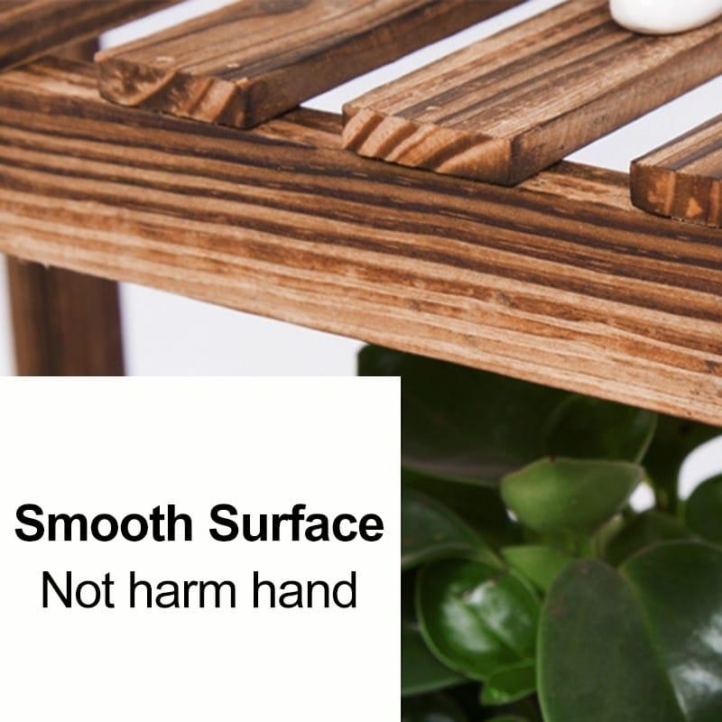 Multi-tier Wooden Plant Flower Stand Plants Shelf Bookshelf