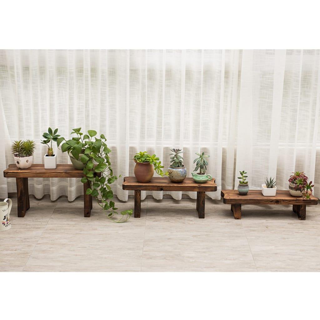 Flower Pot Stand Bench Stool Shelf Storage Shoe Holder
