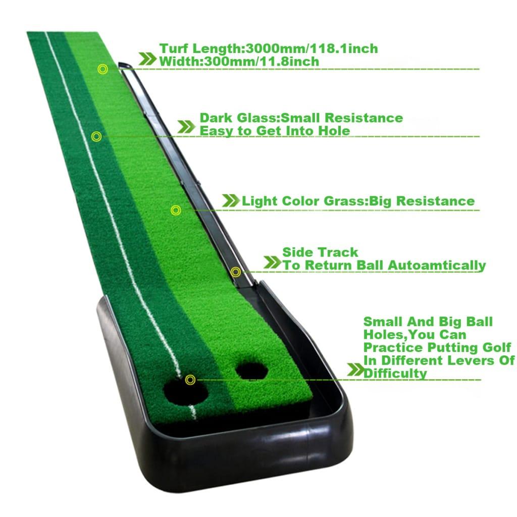Golf Dual Track Golf Simulator Practice Golf Ball Return