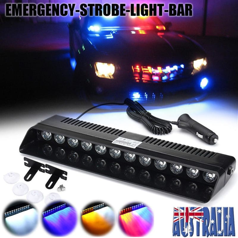 Strobe Lights Suction Cup Car Windshield Emergency Warning