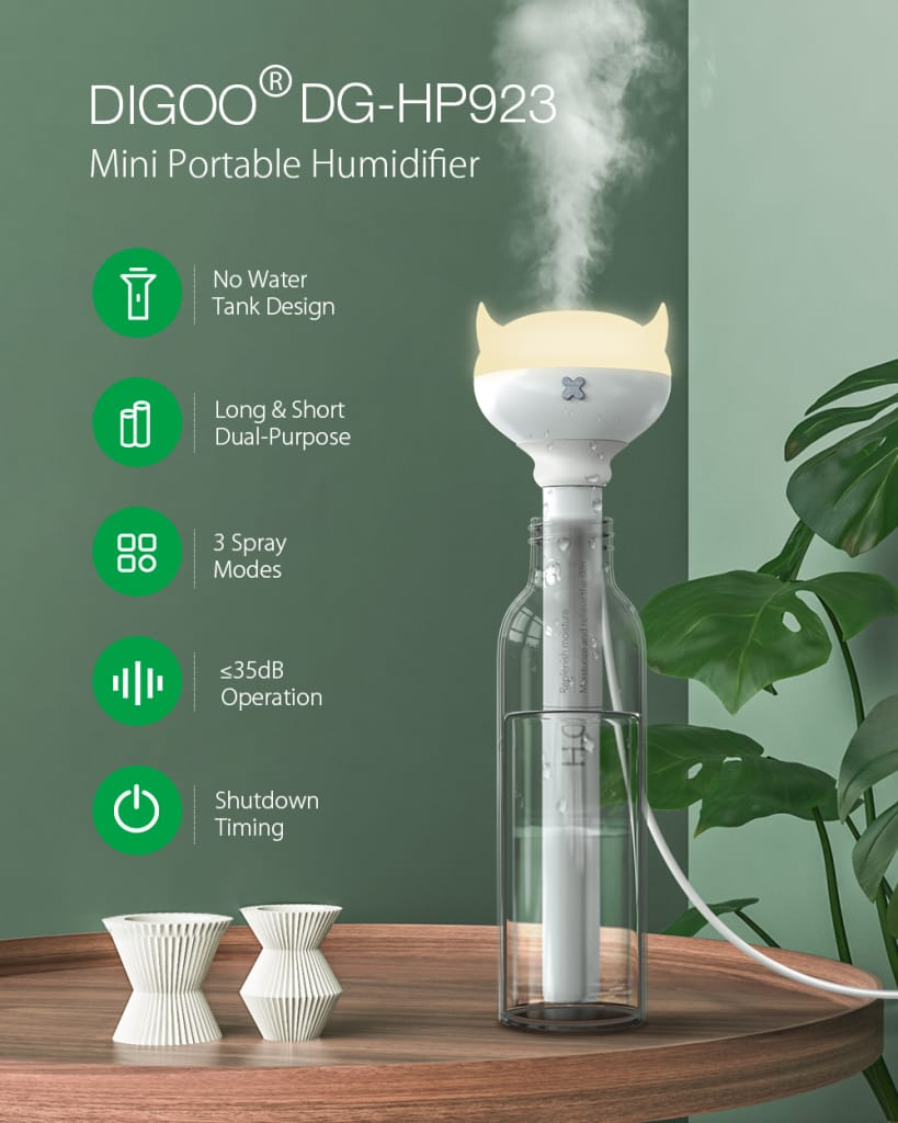 Portable Led Light Timing Sprayer Humidifier (white)