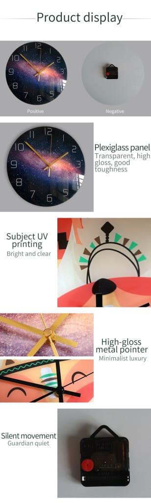 Loskii Cc046 Creative Wall Clock Mute Wall Clock Cartoon