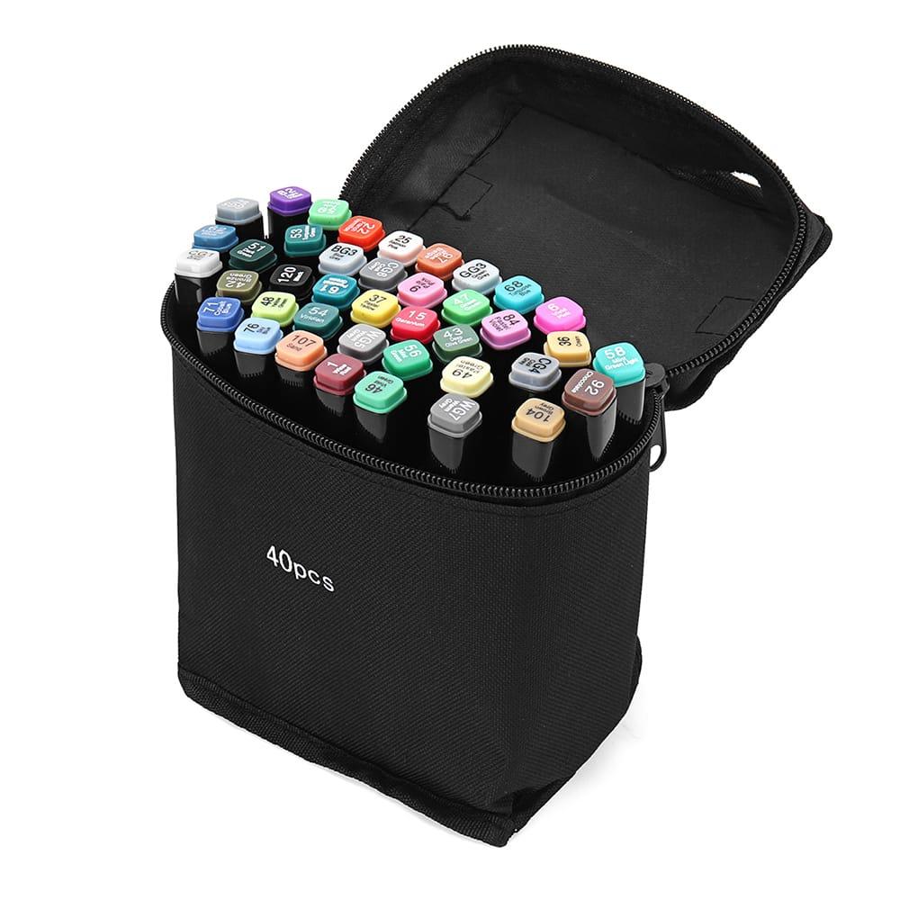40 Colors Art Marker Double Head Sketch Alcohol Marker Pen