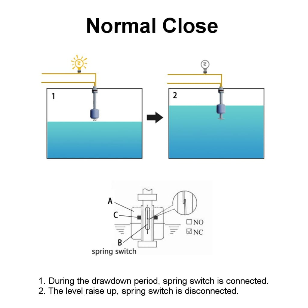 Water Tank Vertical Float Switch W/ Liquid Sensor Level