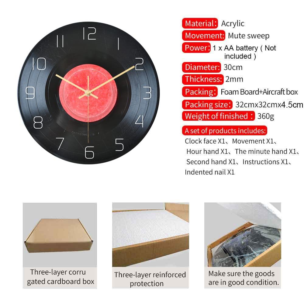 Loskii Cc100 Creative Wall Clock Mute Wall Clock Quartz Wall