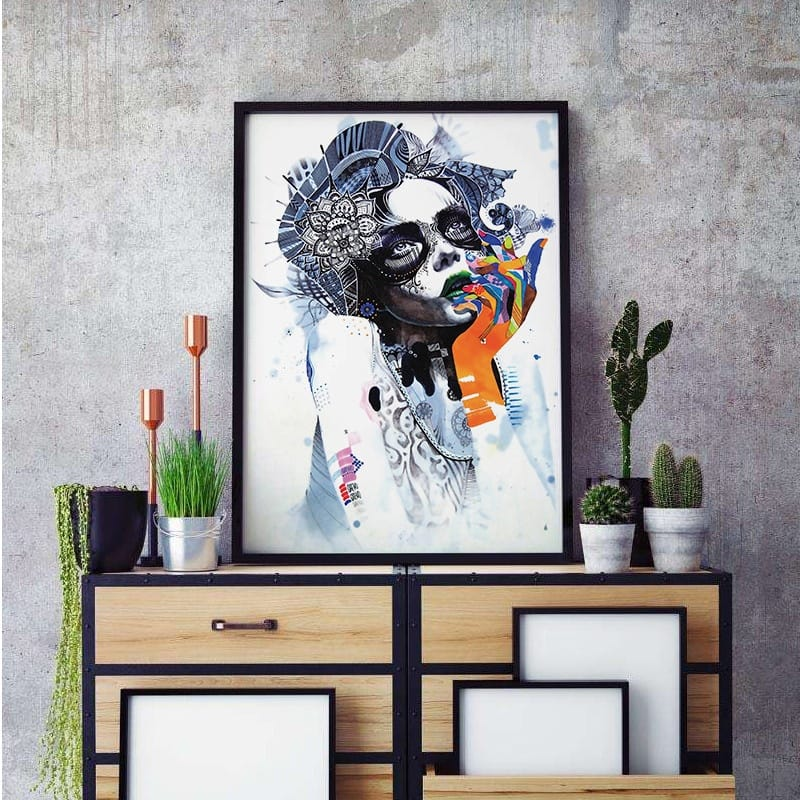 Fashion Exaggerated Abstract Art Animals Canvas Print