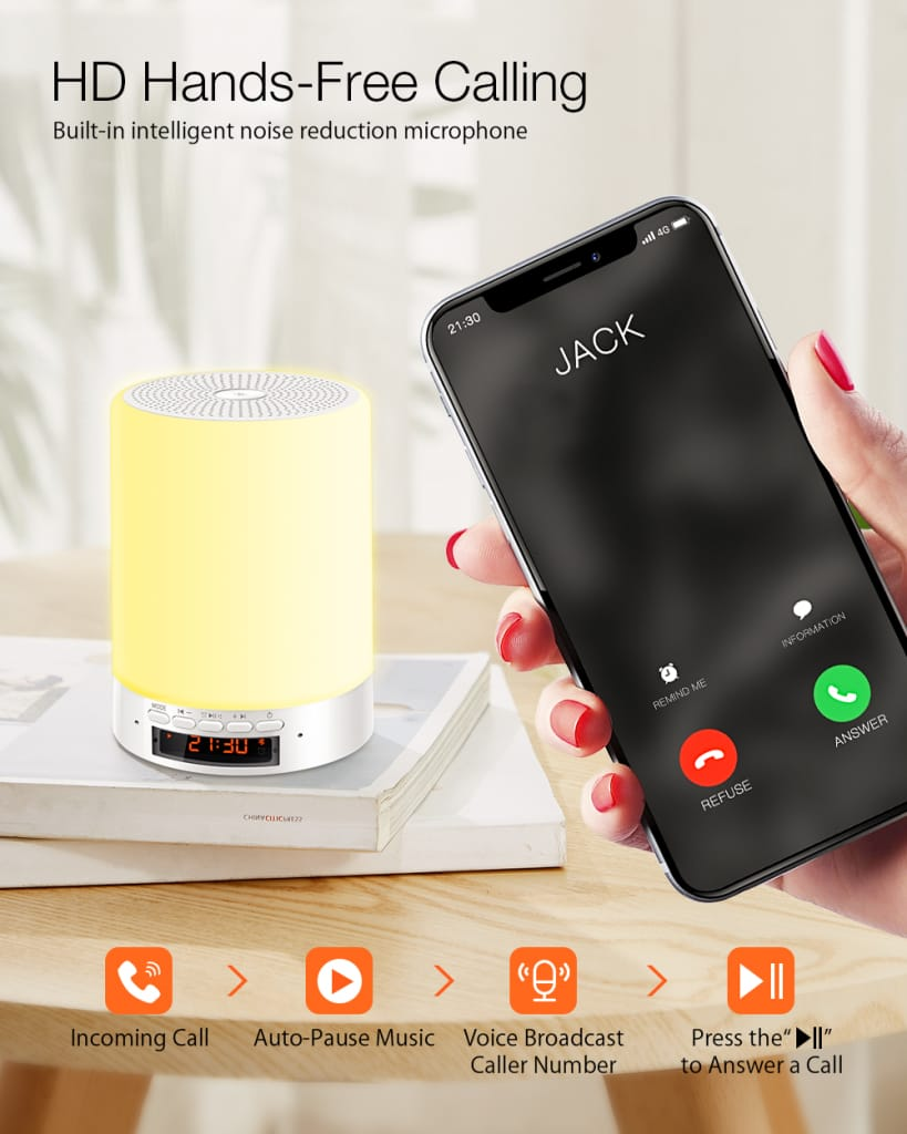 Touch Sense Small Desk Lamp Usb Charging Bluetooth Speaker