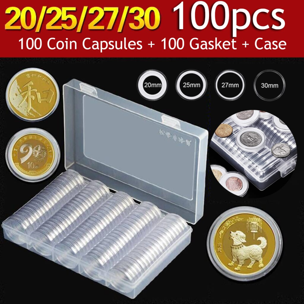 Clear Plastic Coin Holder Coin Shell Collector