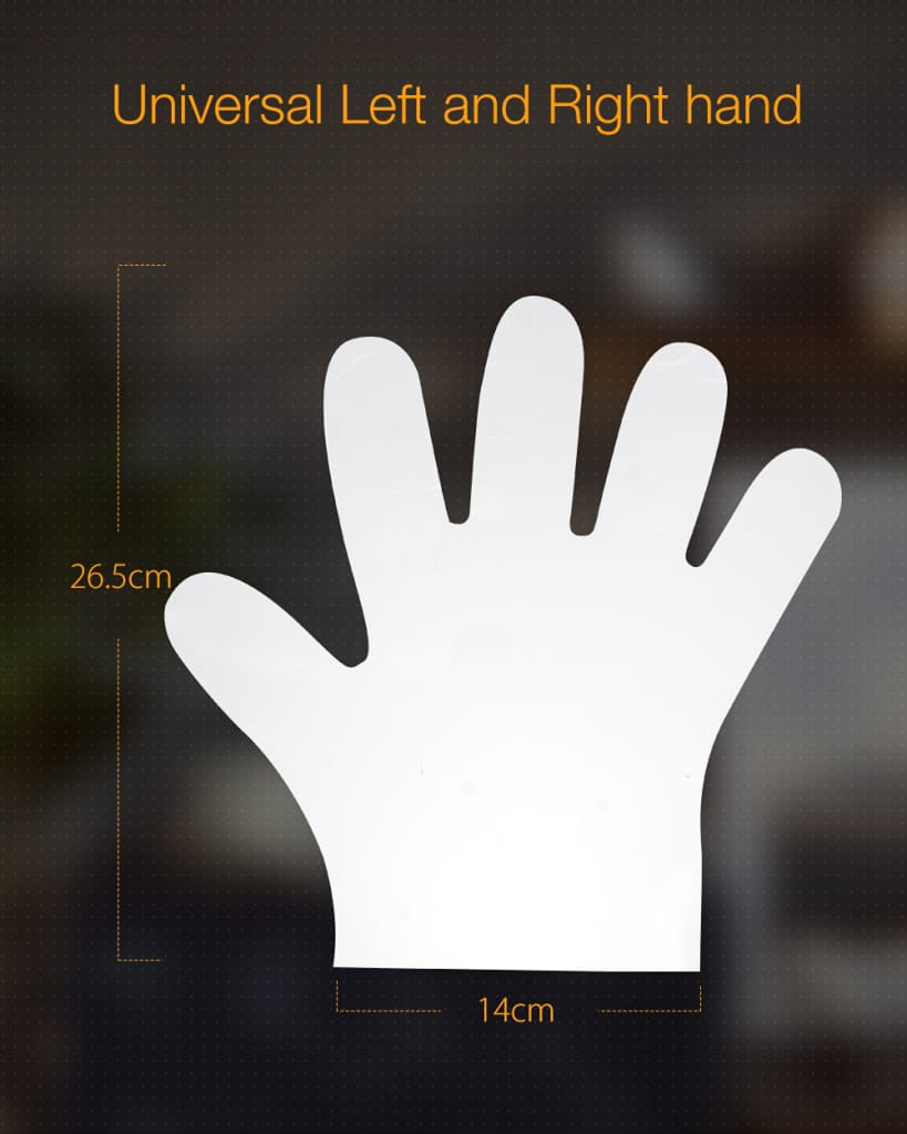 500pcs Disposable Transparent Protective Gloves Safety