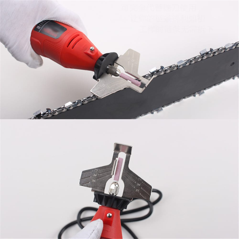 Chain saw Sharpening Attachment Grinding Stone W/ Wrench &