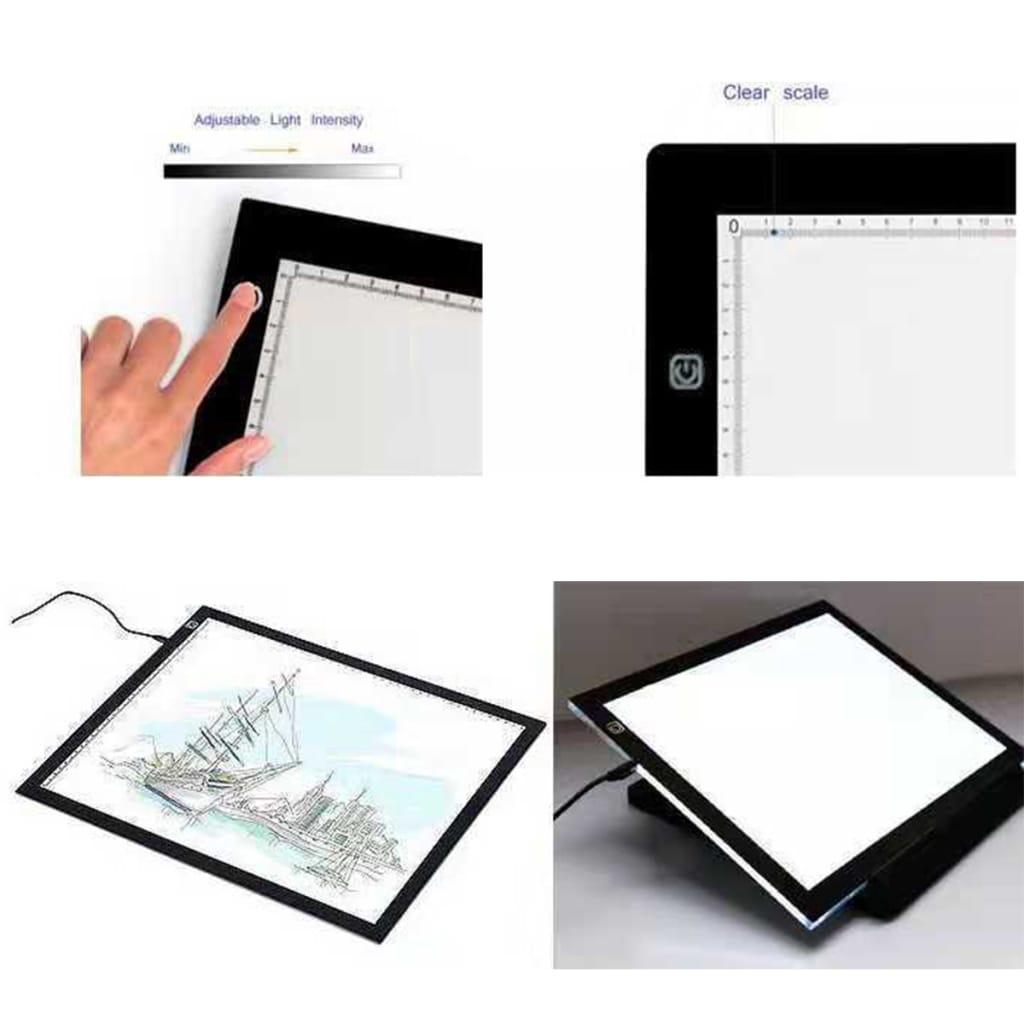 Led Light Box Tracing Drawing Board Lightbox Usb Projector -