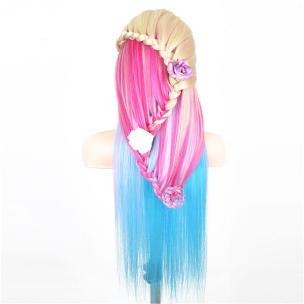 Multicolor Hairdressing Training Head Practice Salon Clamp