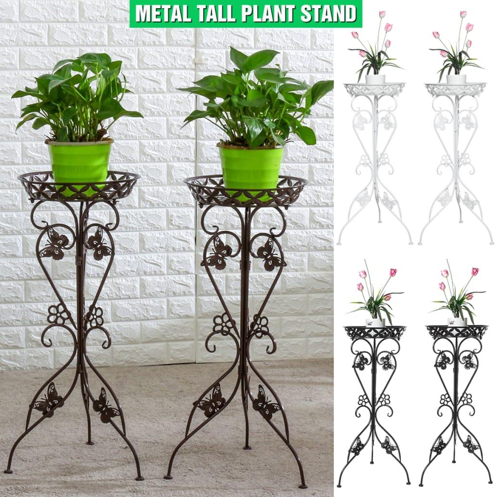 2 X Iron Flower Pot Stand