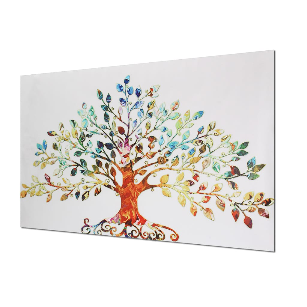 75x50cm Picture-abstract Colorful Leafy Tree Unframed Canvas