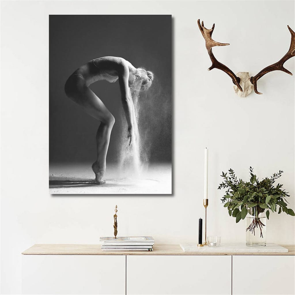 Nordic Dancing Girl Canvas Oil Printed Paintings Unframed