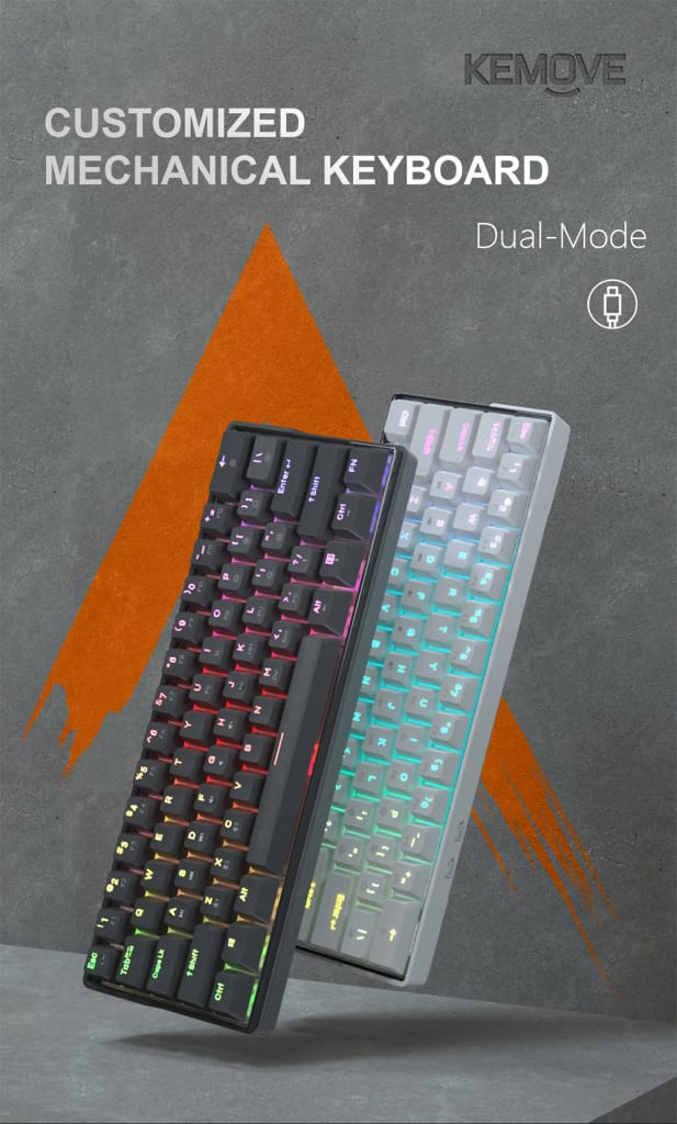 Mechanical Gaming Keyboard 61 Keys - 6 Options