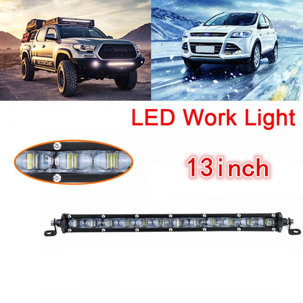 13 Inch 120w 6d Single Row Led Work Light Bar Spotlight Car
