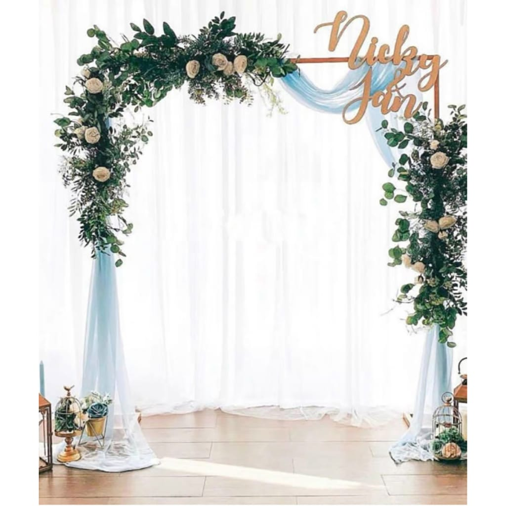 Square Metal Arch Wedding Party Bridal Prom Garden Floral